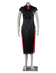 Cosplay Suits Dresses School Uniforms Inspired by Naruto Temari Anime Cosplay Accessories Cheongsam Black Charmeuse