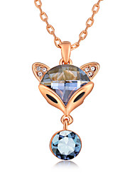 Women's Pendant Necklaces Crystal Chrome Animal Design Cute Style Euramerican Jewelry For Wedding Party Birthday