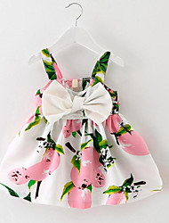 Girl's Sports Floral Dress,Cotton Summer Sleeveless