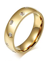 Ring Modisch Stahl Kreisform Gold Schmuck Für Alltag 1 Stück
