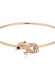 Mulheres Bracelete Jóias Amizade Moda Cristal Liga Forma Geométrica Dourado Prata Ouro Rose Jóias Para Festa Aniversário 1peça