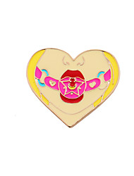 Women's Brooches Enamel Alloy Heart Fashion Adorable Heart Yellow Jewelry Wedding Party Special Occasion Halloween Daily Casual