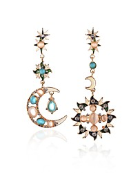 Women's Drop Earrings Crystal Unique Design Costume Jewelry Mismatch Opal Alloy Jewelry For Party Daily Casual