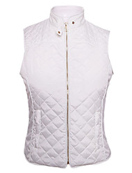 Women's High Neck Diamond Cotton Quilted Vest Coat