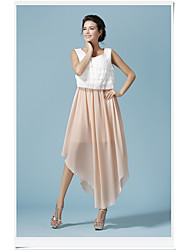 Laminated and ankle chiffon dress hit the color | 31527A015 Specials