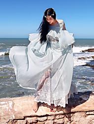 2017 nouvelles femmes d'été&# 39; robe tempérament littéraire vraiment Leisi femmes SI robe manches pétale