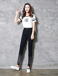 signe un jean ultra élastique motif diamant tache printemps nouvelles jambières de chantiers coréens taille élastique