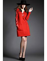 grand prix europeen 2015 nouvel hiver tempérament de mode ol mince était mince robe à manches longues creux une jupe mot