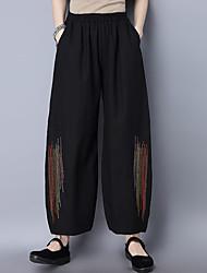 2017 весна новый национальный ветер вышивка линейные двойной карманные штаны потерять случайные штаны
