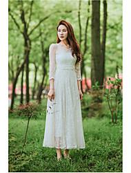 Déesse rétrospective théâtrale 2017 huit mètres large jupe balançoire robe de taille femme robe de dentelle brodée