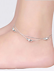 Silver Star Anklet Bracelet Body Jewelry/Leg Chain Alloy Drops Natural Handmade Fashion Silver 1pc