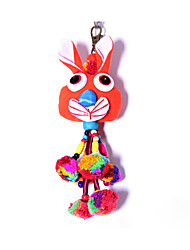 Key Chain Rabbit Key Chain Red