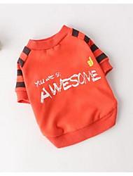 Hund T-shirt Hundekleidung Niedlich Lässig/Alltäglich Kartoon Orange Grau