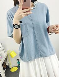 2016 нового пользовательские модели яппи моды личности отверстия классического свободный боковой разрез джинсовый т