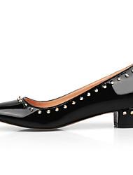 Women's Heels Spring Fall Club Shoes Comfort PU Outdoor Casual Low Heel Chunky Heel Rivet