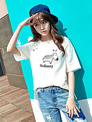signe en vrac à manches courtes T-shirt femme coréenne étudiants d'été compatissants femmes de grande taille&# 39; T-shirt petite