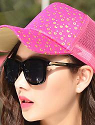 Sequins Reflective Baseball Cap Sunscreen Splicing Mesh Sun Hats