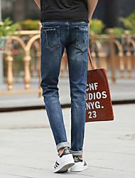 2017 primavera e l'estate nuove sottile era sottile piedi elastiche uomini adolescenti&# 39; s uomini dei jeans&# 39; s marea