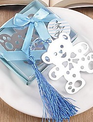 Metallic Blue Box Bear Bookmark Beter Gifts® Baby Birthday Party Favor