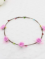 Women's Fabric Hair Clip Five Flowers Cute Party Casual Spring Summer Headband Headpiece Head Wreath  Hair Accessories  Flower Girls