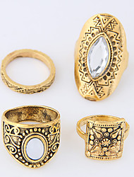 Mittelfingerring Aleación Vintage Euramerican Gold Silber Schmuck Normal 1 Set