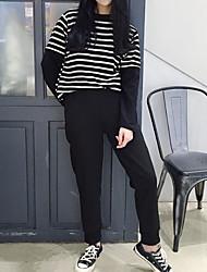 Sign fleece elastic waist and leg opening zipper closed black sports pants casual pants Guardian