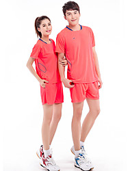 Conjuntos de Roupas/Ternos(Azul pêssego) -Mulheres-Respirável Confortável-Esportes Relaxantes Badminton