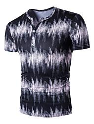 Tee-shirt Homme,Imprimé Sortie Décontracté / Quotidien Grandes Tailles simple Chic de Rue Actif Toutes les Saisons Manches CourtesCol en