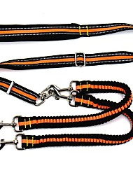 Double Dual Coupler Two Dogs Leash Extend Length Bungee Elastic Dog Pet Lead Leash With Control Handle For Big Dog Two Dogs