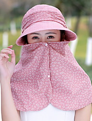 Women 's Summer Mountain Climbing Anti-UV Outdoor Travel Shade Sun Cover Face Flower Printing Visor Cap