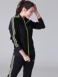 A nova primavera moda casual terno sportswear feminino de mangas compridas jaqueta mulheres de grande porte&# 39; s duas partes