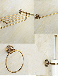 Bathroom Accessory SetBrass /Antique