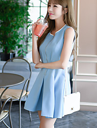 Real shot summer star ladies temperament small fresh tutu Korean version of the Slim was thin vest dress