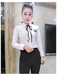 realmente fazendo 2.017 primavera novo ventilador coreano mulheres japonesas&# 39; s camisa de manga longa apoio minimalista magro