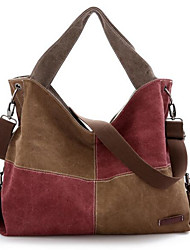 Women Bags All Seasons Canvas Shoulder Bag with for Casual Blue Black Brown