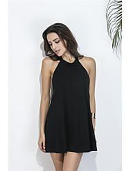 знак летом новое европейские и американские моды платье без бретелек сексуального Холтер линии юбка