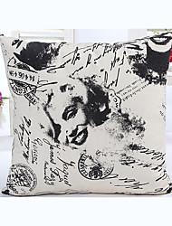 1 Pcs  Monroe  Soft  Decorative Pillow Cover