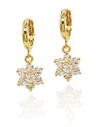 Women's Girls' Drop Earrings Imitation Diamond Unique Design Pendant Tag Heart Euramerican Floral Fashion Personalized Hypoallergenic