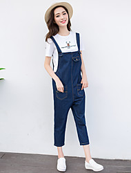 Excellent customer really making 2017 spring new feeling return to campus denim overalls female