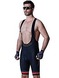 SANTIC® Gepolsterte Fahrradshorts Herrn Atmungsaktiv 3D Pad Weichheit Fahhrad Bib - Shorts/Kurze radhose MIT Trägern Gepolsterte Shorts