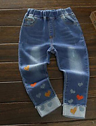 Girls' Casual/Daily Print Jeans Spring