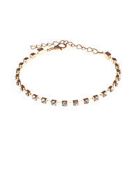 Women's Chain Bracelet Rhinestone Fashion Rhinestone Circle Jewelry For Party Special Occasion Gift Valentine Christmas Gifts 1pc