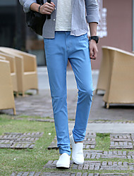 The new spring and summer casual cotton trousers feet adolescent men's casual trousers Slim models