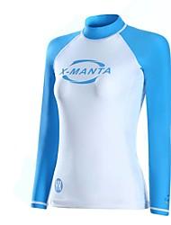 Спорт Жен. Топ для гидрокостюма Дышащий Анатомический дизайн Защита от солнечных лучей Неопрен Водолазный костюм Длинные рукаваВерхняя