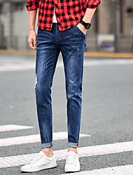 los hombres de primavera&# 39; s pantalones vaqueros delgados masculinos pantalones elásticos pies pantimedias 9 pantalones pantalones