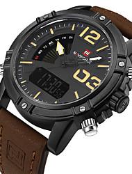 NAVIFORCE Men's Men Sport Watch Military Watch Dress Watch Fashion Watch Wrist watch Bracelet Watch Unique Creative WatchLED Calendar