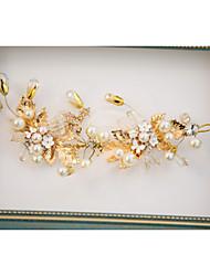 Penas Crostal Liga Capacete-Casamento Ocasião Especial Ao ar Livre Flores Clip para o Cabelo 1 Peça
