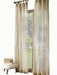 Two Panels Curtain Country Modern Neoclassical Mediterranean Designer , Solid Kids Room Linen Material Sheer Curtains Shades Home