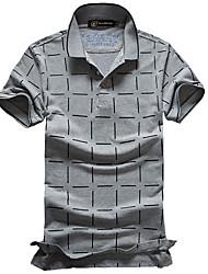 новых мужчин корейской версии тонкий с короткими рукавами футболки Пике хлопка с короткими рукавами футболки поло отворот