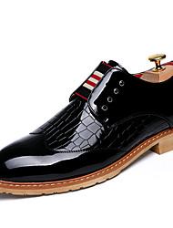 Для мужчин обувь Дерматин Весна Лето Осень Зима Удобная обувь Ботильоны Туфли на шнуровке Для прогулок Назначение Свадьба Повседневные